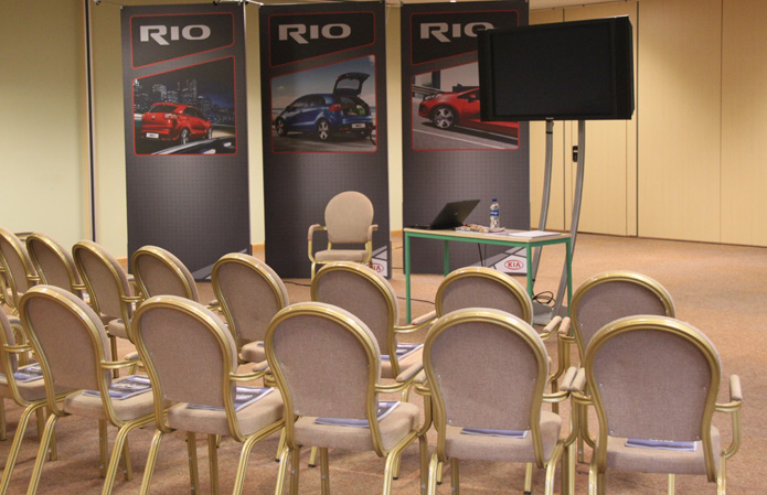 Exhibitions in the Forum Suite at Chateau Impney, Worcestershire