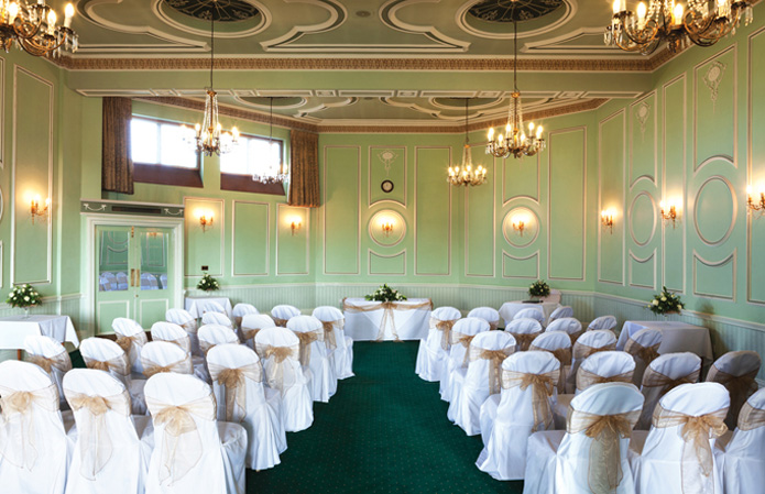 Civil wedding ceremonies at Chateau Impney, Worcestershire