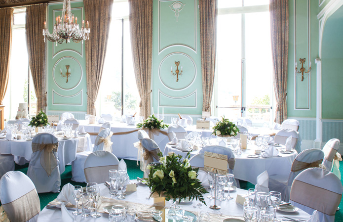 Wedding receptions at Chateau Impney, Worcestershire