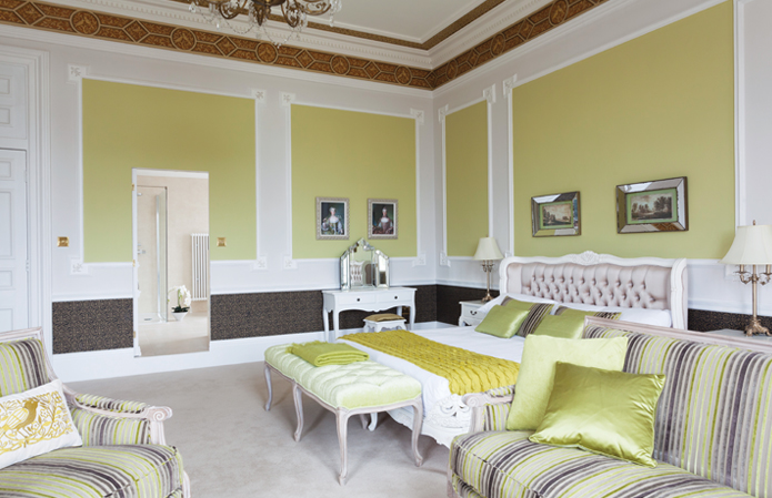 Boutique hotel rooms at Chateau Impney, Worcestershire
